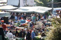 Marktgewirr in Leipzig
